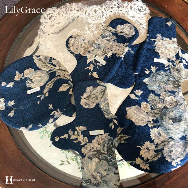 洗えるシルクの布ナプキン リリィグレイス