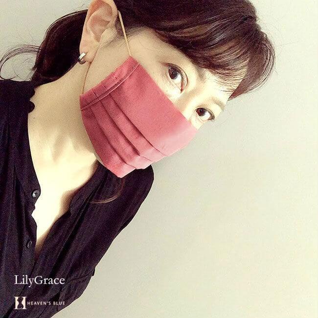 シルクコットンの美人マスク