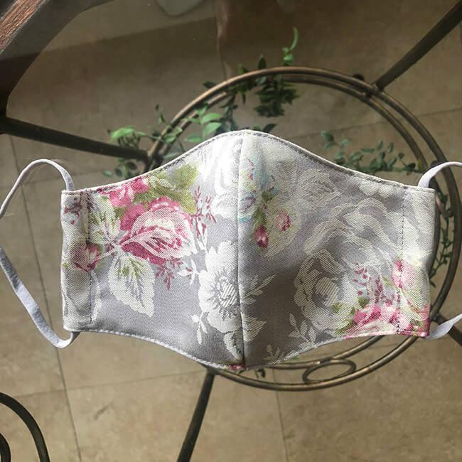 綿麻シルクコットン立体マスク